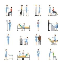 Nurse health care decorative icons vector