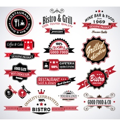 Restaurant Labels vector image vector image