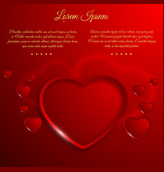 romantic valentines day template vector image vector image