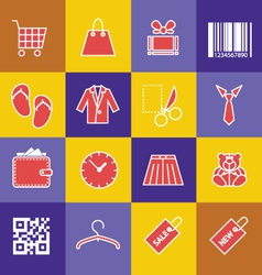Set-of-shopping-icons vector