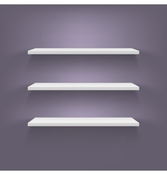 Shelves attached to the wall vector image vector image