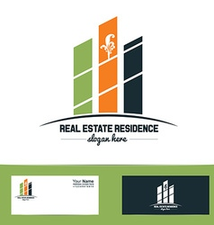 Simple real estate logo vector image vector image