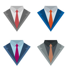 Suits with ties vector