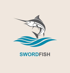 Swordfish for fishing design vector