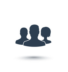 Team icon isolated on white vector