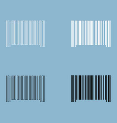 The barcode the black and white color icon vector