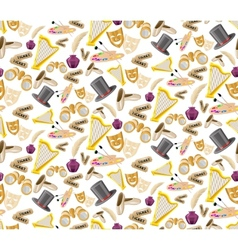 Theatre seamless pattern vector image vector image