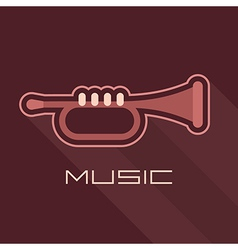 trumpet icon with text vector image vector image