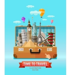 vacation logo design template travel vector image