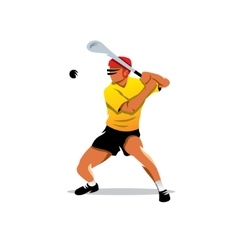 Hurling player cartoon vector