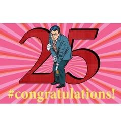 Congratulations 25 anniversary event celebration vector image