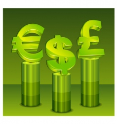 money pedestal vector image