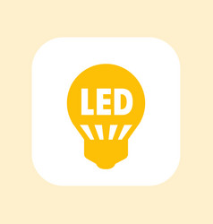 Led light bulb icon sign over white vector