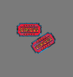 circus show entrance tickets templatecolorful vector image