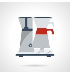 Coffee making icon flat color style vector