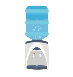 water dispenser cooler bottle purifier flat blue vector image