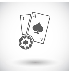 Blackjack flat icon vector