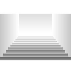 Stairs detailed of white stairs vector