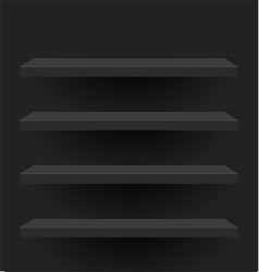 Black shelves design vector