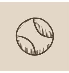 Tennis ball sketch icon vector