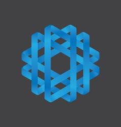 Abstract polygon logo design vector