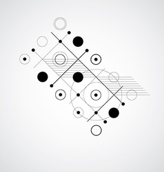 Bauhaus black and white abstract background made vector