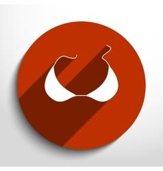 bra icon vector image vector image