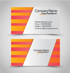 Business card set template vector image
