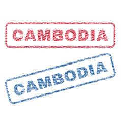 Cambodia textile stamps vector