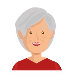 Cartoon old woman icon vector