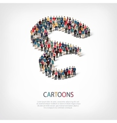 cartoons people shape vector image