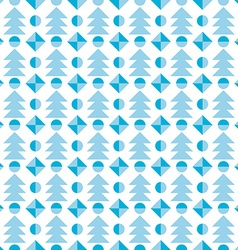 Christmas tree seamless pattern festive vector