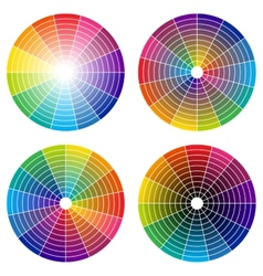 color wheel vector image