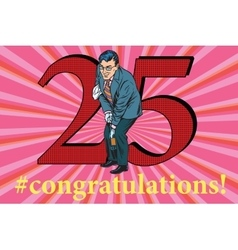 Congratulations 25 anniversary event celebration vector image vector image