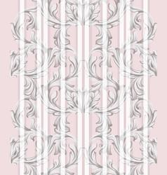 damask ornament vintage background vector image