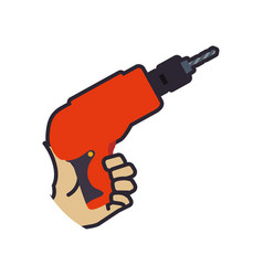 Electric drill tool vector