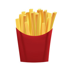 french fries in box vector image