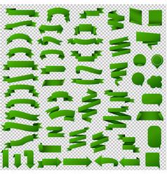 Green web ribbon set vector
