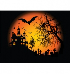 Halloweenbackground vector image vector image
