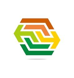 Hexa arrow perfect icon style vector