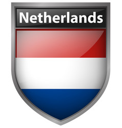 Icon design for netherlands flag vector