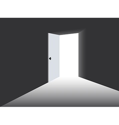 Light from the open door vector image vector image