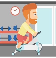 Man doing cycling exercise vector