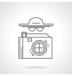 Paparazzi flat line icon vector