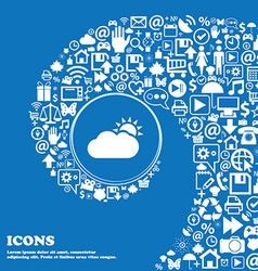 Partly Cloudy icon Nice set of beautiful icons vector image vector image