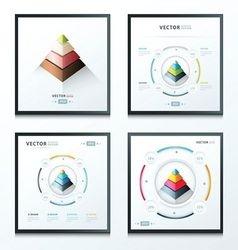 pyramid infographic set vector image