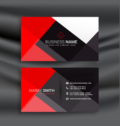 Red and black professional business card vector