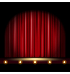 Scene with Curtain vector image