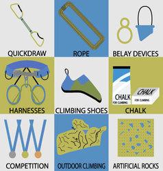 Set icon sport climbing vector