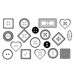 set of different buttons vector image